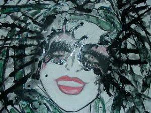 Medusa 60x60 Acryl auf Leinwand
