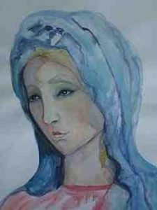 Maria 90x70 auf Aquarell