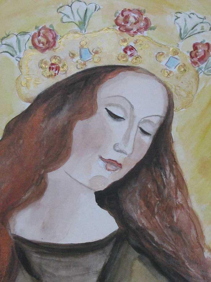Maria mit Blumenkrone