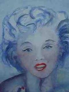 Marylin Monroe 90x70 Aquarell