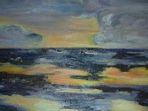 Nordsee 90x70 Öl auf Leinwand